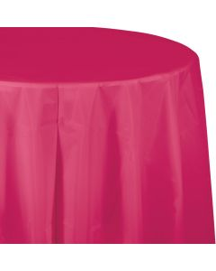 """Hot Pink 82"""" Round Tablecover"""