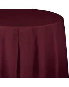 """Burgundy 82"""" Round Tablecover"""