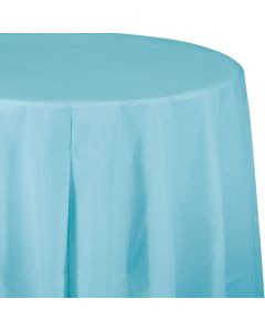 """Light Blue 82"""" Round Tablecover"""