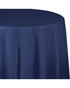 """Navy Blue 82"""" Round Tablecover"""