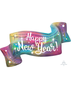 "39"" Iridescent New Year Banner"