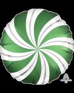 "18"" Satin Candy Swirls Emerald Pkg"