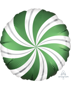 "18"" Satin Candy Swirls Emerald Pkg"