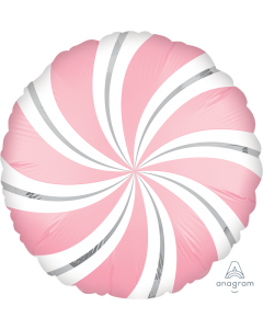 "18"" Satin Candy Swirls Pink Pkg"
