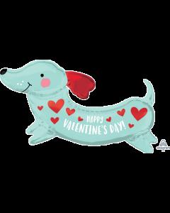 """37"""" Valentine Weiner Dog"""