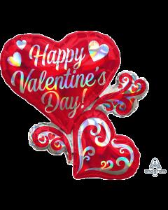 "26"" Iridescent Valentine Hearts"