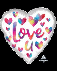 """18"""" Love You Rainbow Colors Pkg"""