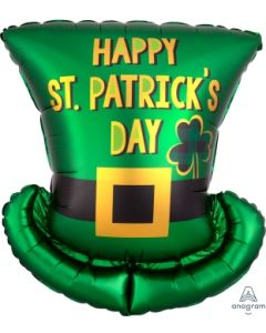 "24"" St. Pat's Satin Top Hat"