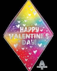 """25"""" Valentine Rainbow Hearts Anglez"""