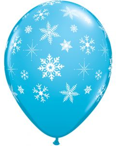 "11"" Snowflakes & Sparkle Around Blue 50ct"