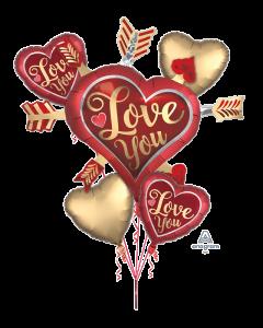 Satin Love & Arrows Bouquet
