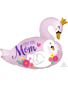 "29"" Satin Love Mom Swans"
