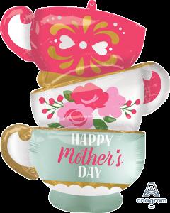 "30"" Mother's Day Satin Teacups"