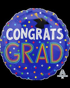 """18"""" Congrats Grad Cap & Dots Pkg"""