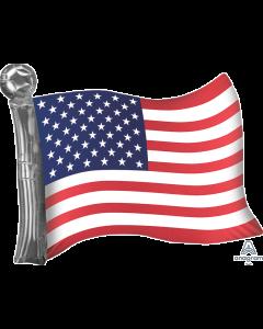 "27"" Satin American Flag"