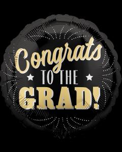 """18"""" Congrats Grad Gold"""