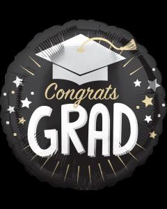 """18"""" Congrats Grad Cap Silver"""