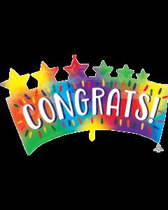 """34"""" Congrats Stars Banner"""