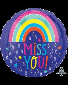 "18"" Miss You Raindrops Pkg"