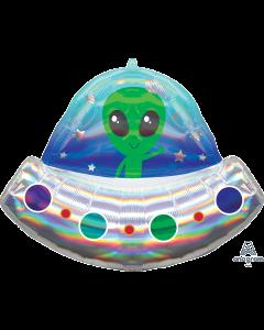 "28""Iridescent Alien Space Ship"