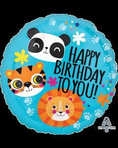 "18"" Jungle Fun Birthday"