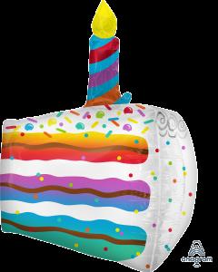 """25"""" Confetti Cake Slice"""