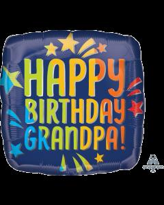 "18"" Grandpa B'day Blue Rainbow"
