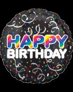 """18""""Bold Rainbow Birthday"""