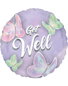 """18"""" Pastel Butterfly Get Well"""