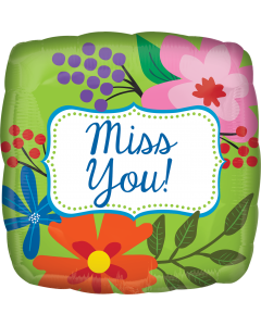 """18"""" Miss You Green Floral"""