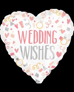 "18"" Pink Wedding Wishes"