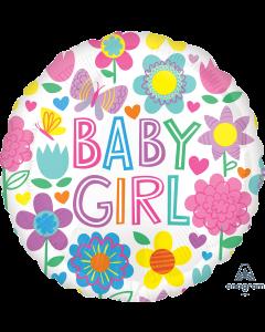 """18"""" Baby Girl Floral Pkg"""