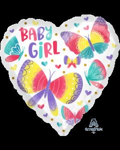 "18"" Baby Girl Watercolor Pkg"