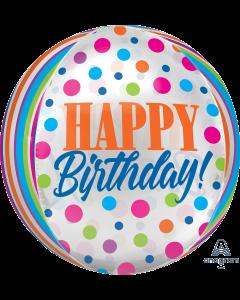 "16"" Birthday Bright Dots Orbz"