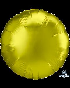 "18""Satin Luxe Lemon Circle"