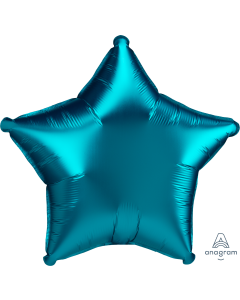 "18""Satin Luxe Aqua Star"