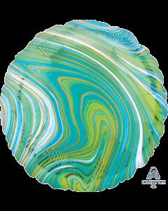 "18""Blue-Green Marblez Circle"