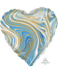 "18"" Blue Marblez Heart"