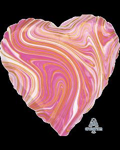 "18""Pink Marblez Heart"