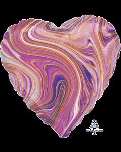 """18""""Purple Marblez Heart"""