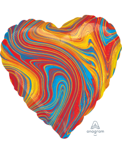 "18"" Colorful Marblez Heart"
