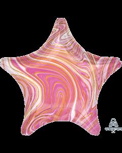 """19""""Pink Marblez Star"""