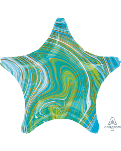 "19"" Blue-Green Marblez Star"