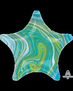 "19""Blue-Green Marblez Star"