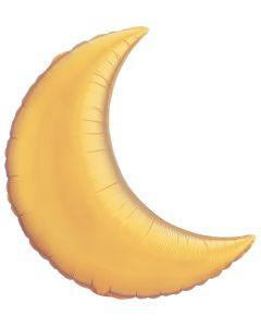 "9"" Metallic Gold Crescent Moon"