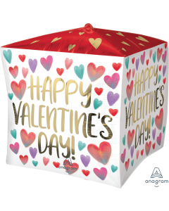 "15"" Valentine Watercolor Cubez"