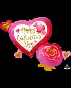"32"" Valentine Hearts & Roses"