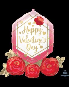 "30"" Valentine Diamond & Roses"