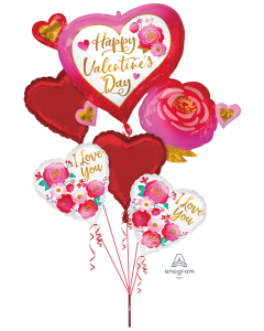 Hearts & Roses Valentine Bouquet
