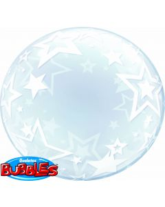 "24"" Stylish Stars Deco Bubble (not self sealing)"